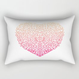 Pink Heart - Light White background Rectangular Pillow