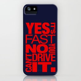 Yes it's fast No you can't drive it v5 HQvector iPhone Case