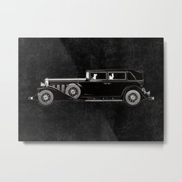 Retro car pattern Metal Print