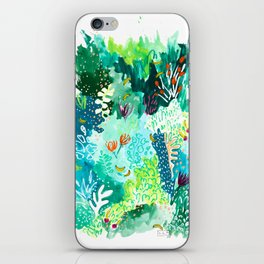 Twice Last Wednesday: Abstract Jungle Botanical Painting iPhone Skin