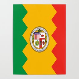 American cities-  Flag of  los angeles Poster
