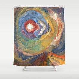 The Red Eye Shower Curtain