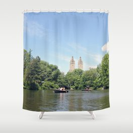 Central Park Lake Shower Curtain