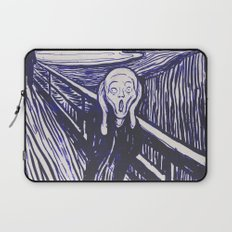 The Scream's Haze (dark blue) Laptop Sleeve
