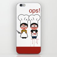 the fault iPhone & iPod Skins featuring It wasn't my fault by Golosinavisual