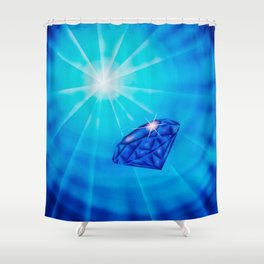 Blue Diamond Shower Curtain