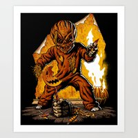 Art Print featuring Trick R Treat by FrightRags