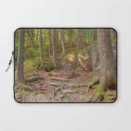 Green Mountain Forest Trail Laptop Sleeve