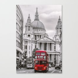 London Classic Bus Canvas Print