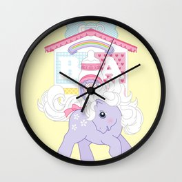 g1 my little pony baby blossom at lullabye nursery Wall Clock