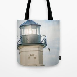 """Block Island Lighthouse"" by Murray Bolesta Tote Bag"