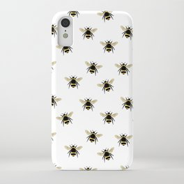 Bumble Bee pattern iPhone Case