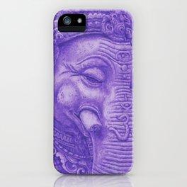 Ganesha violet iPhone Case