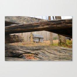 Smoky Mountains Cabin Canvas Print