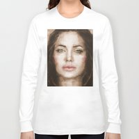 angelina jolie Long Sleeve T-shirts featuring Jolie by Dnzsea