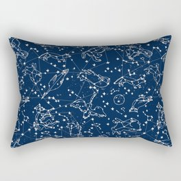 Constellations animal constellations stars outer space night sky pattern by andrea lauren Rectangular Pillow