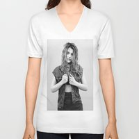sky ferreira V-neck T-shirts featuring You're Not The One ~ Sky Ferreira by Michelle Rosario