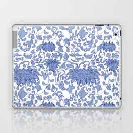 Chinoiserie Vines in Delft Blue + White Laptop & iPad Skin