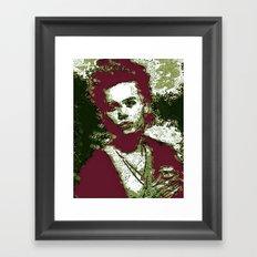 JOHNNY DEPP BY Cd KIRVEN Framed Art Print