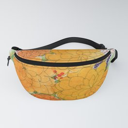 Orange Peonies Fanny Pack