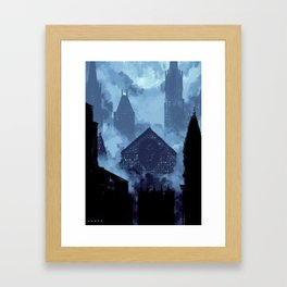 Opressive Nights Framed Art Print