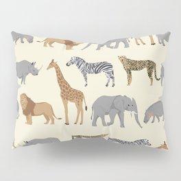 Safari animal minimal modern pattern basic home dorm decor nursery safari patterns Pillow Sham
