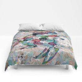 Rainbow Fish Collage Comforters