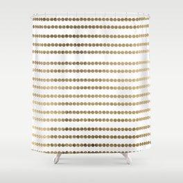 Elegant faux gold white modern minimal polka dots stripes Shower Curtain