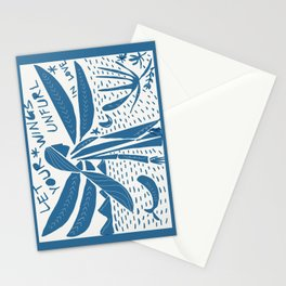let your wings unfurl Stationery Cards