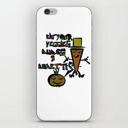 Eat your Veggies - Mr. Onion & Mr. Carrot iPhone Skin