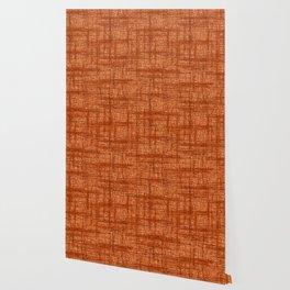 Textured Tweed - Rust Orange Wallpaper