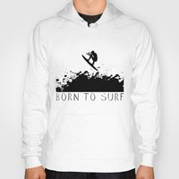 surfer Hoodies featuring Surfer by Emir Simsek