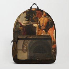 Francesco Hayez - Mary Stuart Protesting her Innocence on Hearing her Death Sentence Backpack