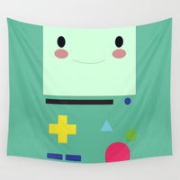bmo Wall Tapestries featuring BMO!!  by anthonykun