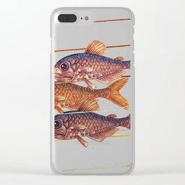 Sardine - fish Clear iPhone Case