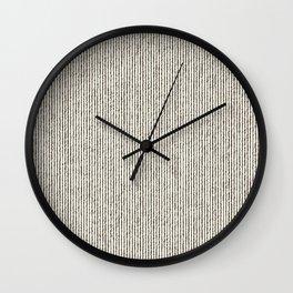 Tie Dye Stripes Charcoal Wall Clock