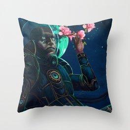 Cold Magnolia Throw Pillow