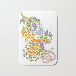 Beebalm Flower Bath Mat