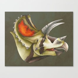 Triceratops Bust Canvas Print