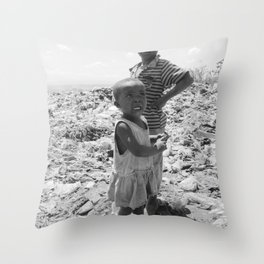 Garbage Slum Throw Pillow