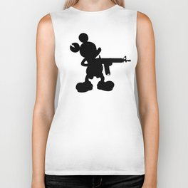 Monster Mouse (Black) Biker Tank