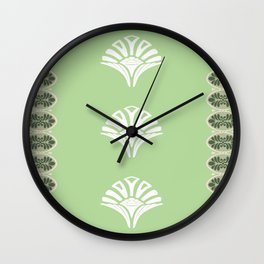 S6 Abbey Chic Classique Pattern (green) Wall Clock