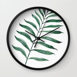 Tropical Greenery - Palm Tree Leaf Wall Clock