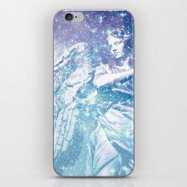 Celestial Guardian Angel Periwinkle Blue iPhone Skin
