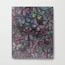 butterflies galore noir version Metal Print