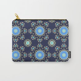 Golden and blue pattern Carry-All Pouch