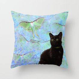 Luna Cat Throw Pillow