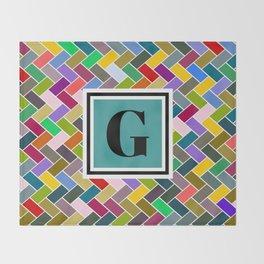 G Monogram Throw Blanket