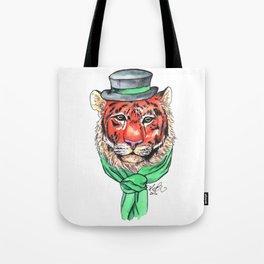 Tophat Tiger Tote Bag
