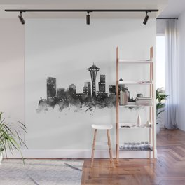 Seattle Skyline Wall Mural